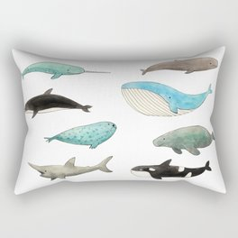 Marine animals Rectangular Pillow