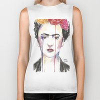 frida Biker Tanks featuring Frida by SirScm