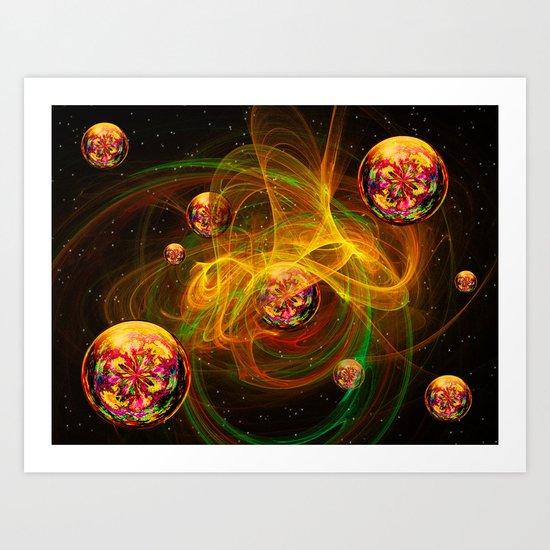 Chaos creating Universe Abstract Fantasy Art Print