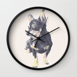 Little Dog Waiting Wall Clock
