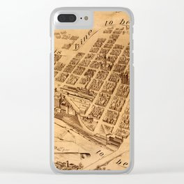 Map Of Minneapolis 1881 Clear iPhone Case