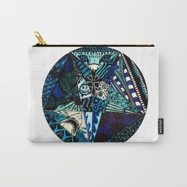 Blue Toned Pentagram Carry-All Pouch