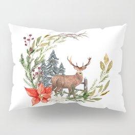 Woodland Deer Wreath Pillow Sham