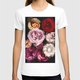 Red, White, Yellow, and Pink Roses T-shirt