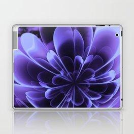 Abstract Blue Flower Laptop & iPad Skin