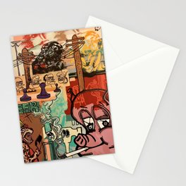 Pigs and Pawns Stationery Cards