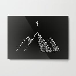 Sisters Mountains Metal Print