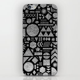Modern Elements with Black. iPhone Skin