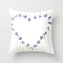 Violet Squared Throw Pillow