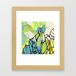 Accumulated Propagation - almost DayGlo Framed Art Print