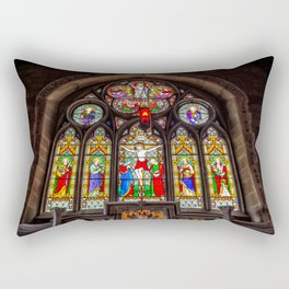 Ancient Stained Glass Rectangular Pillow