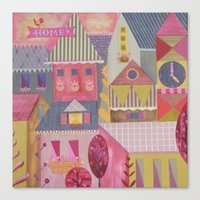 home sweet home Canvas Prints featuring home by Jill Howarth
