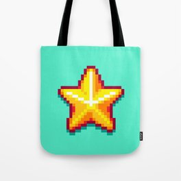 Pixel Star Tote Bag