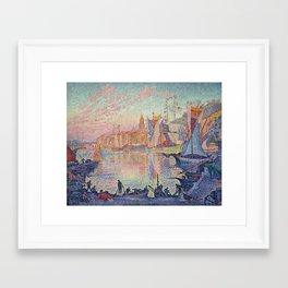 Paul Signac - The Port Of Saint Tropez Framed Art Print