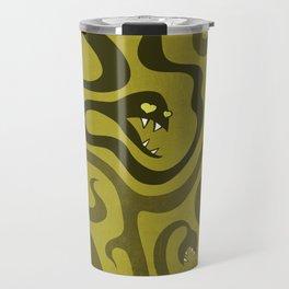Funny Cartoon Evil Snakes Travel Mug