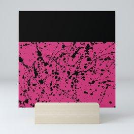Splat Black On Yarrow Boarder Mini Art Print