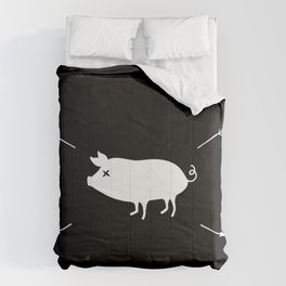Lovely pig Comforters