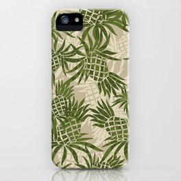 Pineapple Camo and Pineapple Luau Hawaiian Hula Girl Prints iPhone Case
