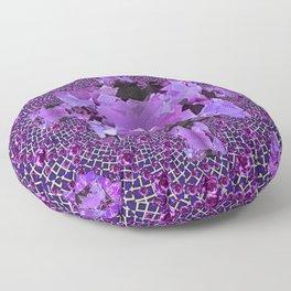 Amethyst Purple Square Gems February Birthstones Floor Pillow
