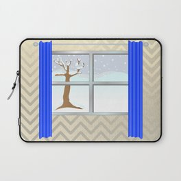 Window view in winter Laptop Sleeve