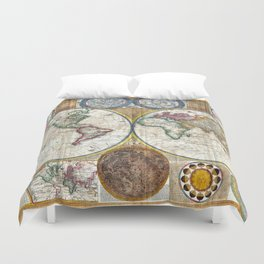 Old World Map print from 1794 Duvet Cover