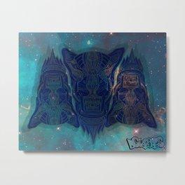 illuminated tigers Metal Print
