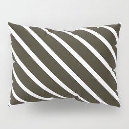 Molasses Diagonal Stripes Pillow Sham