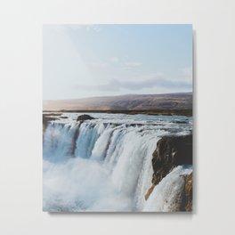 Icelandic Waterfalls Metal Print