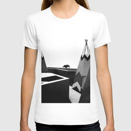Cabins in BW T-shirt