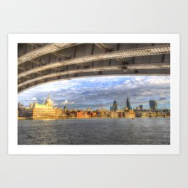 City of London and River Thames Art Print