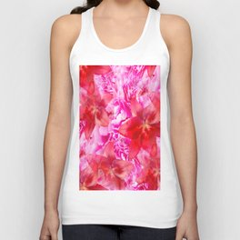 Peony And Lily Flower Bouquet In Vibrant Pink And Red Colors #decor #society6 #homedecor Unisex Tank Top