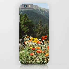Mountain garden iPhone Case