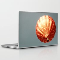 baloon Laptop & iPad Skins featuring Strawberry hot air baloon by Wood-n-Images