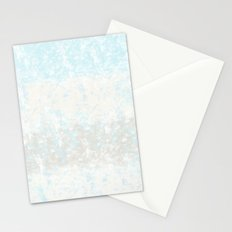 Sea Sand, and Sky Blue Beige Abstract Stationery Cards