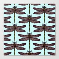 dragonfly Canvas Prints featuring dragonfly by Sharon Turner