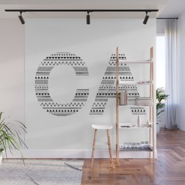 Typographic CA - Onyx Wall Mural