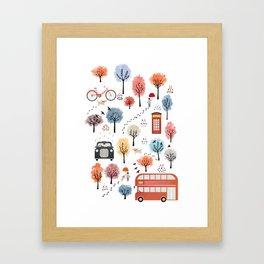 London transport Framed Art Print