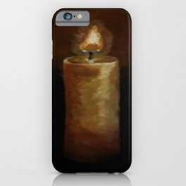Candle, Oil painting by Luna Smith, LuArt Gallery iPhone Case
