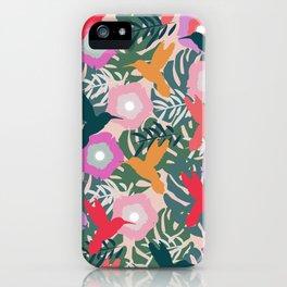 Happy hummingbirds iPhone Case