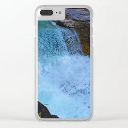 Beauty Creek & Stanley Falls in Jasper National Park, Canada Clear iPhone Case