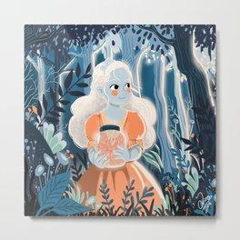 Little princess in the woods Metal Print