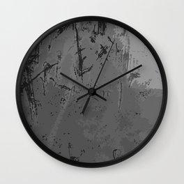 Decay Pattern, Grey/Silver Rust Wall Clock