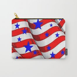 RED PATRIOTIC JULY 4TH BLUE STARS AMERICANA ART Carry-All Pouch