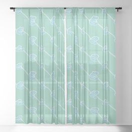 Intertwined Leaves Pattern Sheer Curtain