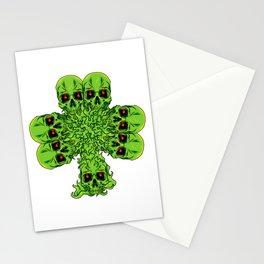 Skull Cloverleaf - St. Patrick's Day Stationery Cards
