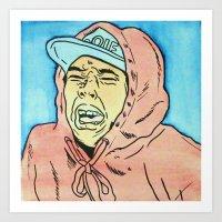 tyler spangler Art Prints featuring Tyler by Michaela Coffman