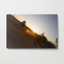 Nebraska Sunset Metal Print