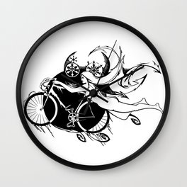 Icicle Bicycle B&W Wall Clock