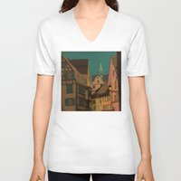 jazzberry V-neck T-shirts featuring Evening by Megs stuff...