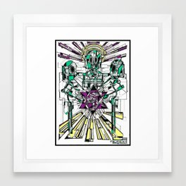Jesus was an alien Framed Art Print